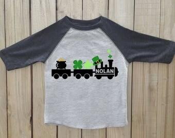 St Patricks Day train shirt, St Patricks Day shirt, St Patricks day shirt boys, train shirt, St patricks day boys shirt, st patricks shirt