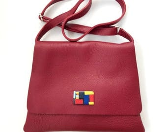 Bzero bag in Bordeaux 01 leather shoulder Bag