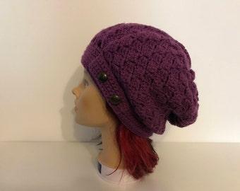 Purple hood - button