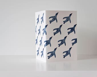 penguin pattern / greeting card