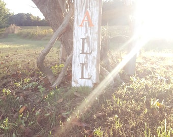 FALL white washed wooden sign