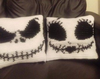 Jack Skellington and Sally Pillows