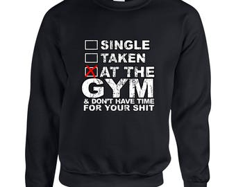 At The Gym & Don't Have Time For Your Shit Couple Goals Clothing Adult Unisex Sweatshirt Printed Crew Neck Sweater for Women and Men