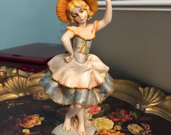 Vintage Depose Italy - Dancing Girl and Figurine