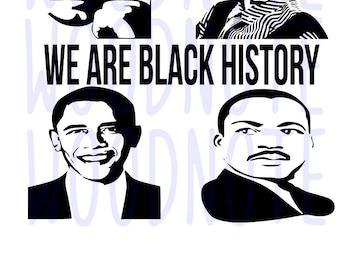 Black History Month SVG MLK Jr Malcom X Rosa Parks Barack Obama African American Pride Black Panther Strength Diva