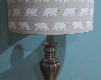 Handmade Lampshade with Polar Bears