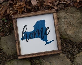 Ready to Ship!! - Home State Wood Sign - Mantle Decor - Rustic Decor - State Wall Art - Home Sign