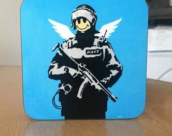 Banksy Coaster #41 - Banksy Gift - Banksy Coaster - Custom Coaster -Gift for Her - Gift For Him - Fridge Magnets - Banksy Magnet - Souvenir