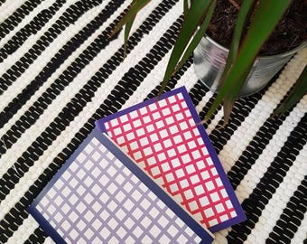 A6 Notebook/ Pocket Notebook/ Abstract Checked / Stationary