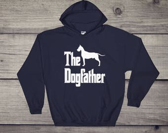 The Dogfather hooded sweatshirt, Great Dane silhouette, funny dog gift hoodie, The Godfather parody, dog lover sweater, dog gift