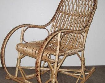 wicker rocking chair willow kids chaild chair handmade chair wicker rocker vintage