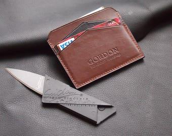Leather cardholder | Wallet Mini Wallet Slim wallet Nature leather Unisex Cardcase