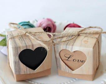 Rustic Wedding Favor Box Bridal Shower Favors