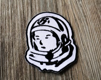 astronaut Iron On Patch,cosmonaut patch,black and whiet  Badges, Sew On Patch, Embroidered Patch, Iron on patch
