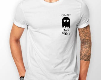 CLEARLY I'm a Ghost Halloween T-Shirt