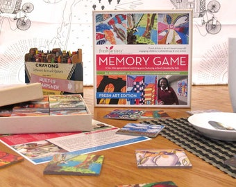 Memory Game: Fresh Art Edition - A perfect intergenerational matching game for kids to adults with a social justice mission.