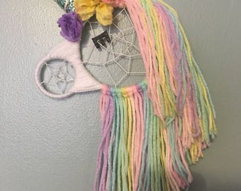 SMALL Unicorn Dreamcatcher, Dream Catcher, Wall Hanging, Nursery Decor