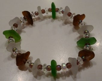 Artisan Handmade Beach Glass/Sea Glass Bracelet