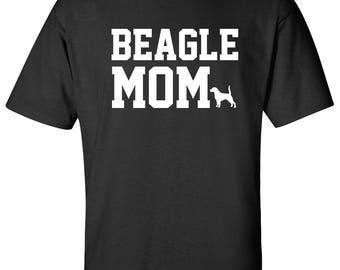 Beagle Dog mom 100% Cotton Graphic Logo Tshirt