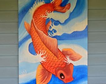 Rustic Koi Art
