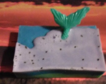 Mermaid waves in Peppermint and Green Tea