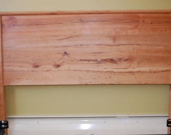 Solid cherry headboard