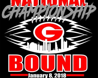 UGA National Championship Bound SVG