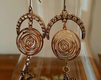 Earrings 'My moon and stars'