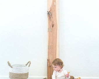 The Milestone Growth Chart Ruler Board - Hickory Pecan