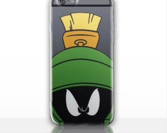 Marvin Martian LOONEY TUNES  Hard Case for iPhone 5S 5 SE, iPhone 6S 6 or iPhone 7 8 iPhone X