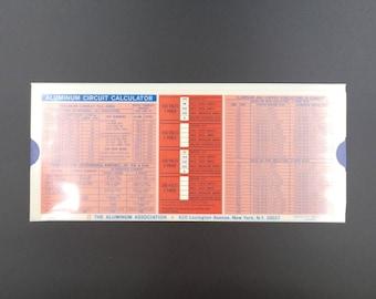 Vintage  Aluminum Circuit Calculator - Slide Rule - 1967  -  MS0001