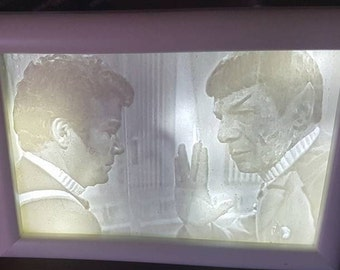 Death of Spock Lithopane and Lightup Frame