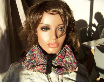 warm snood, fancy, sweet, young, easy, multicolored, collar necklace, chunky wool