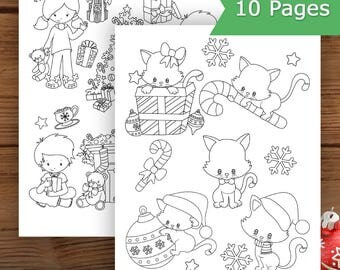 Christmas Coloring Pages, Kids Coloring Pages, Christmas Printable, Christmas Party Activity For Kids,
