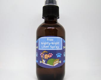 "Dog Sir Dudley's Fido ""Nighty Night Line Spray"" with Essential Oils to help with Sleep, Aromatherapy"