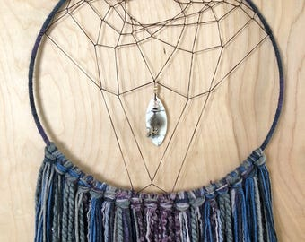 "12"" blue/gray/purple Dreamcatcher"