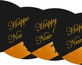 Ney Year's Eve Party Coasters - Super Absorbents - Set of 4