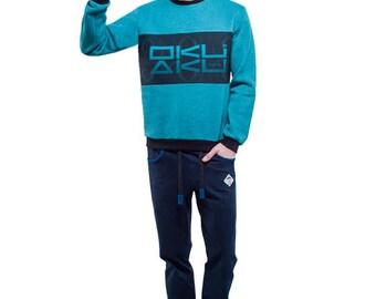 Logo Sweatshirt (Turquoise)