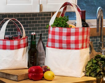 Canvas Grocery Bag Standard - Reversible