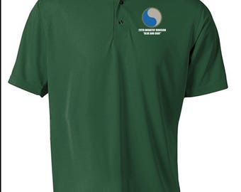 29th Infantry Division -Embroidered Moisture Wick Polo Shirt -7590