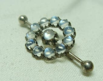 Fine Edwardian Moonstone Brooch