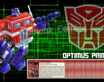 TRANSFORMERS OPTIMUS PRIME 1980s Poster - 11x17 Digital Download pdf