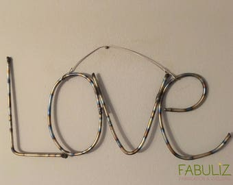 Hanging Stainless Steel Welded Love Sign