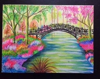 Nature Scene Acrylic Painting on Canvas