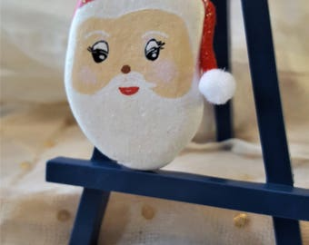 Hand-painted Santa Rock