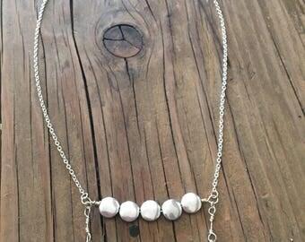 Boho double bar necklace
