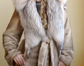 Designer mink fur coat