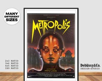 Metropolis Movie Poster Print Classic Fritz Lang German Film German Movie poster