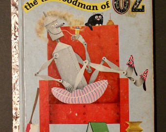 Vintage Little Golden Book  No.159 The Tin Woodman of OZ  1st Edition 28 page