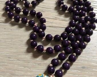 Purple Jade Mala